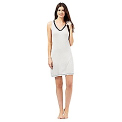 J by Jasper Conran - White striped print V neck chemise