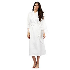 J by Jasper Conran - Tall ivory cherie long dressing gown