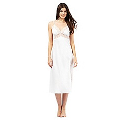 J by Jasper Conran - Petite ivory cherie long nightdress