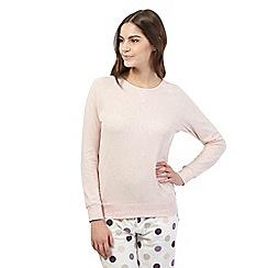 RJR.John Rocha - Pink lace pyjama sweatshirt