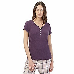 RJR.John Rocha - Purple short sleeved pyjama top