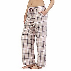 RJR.John Rocha - Pink checked pyjama bottoms