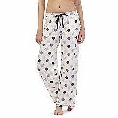 RJR.John Rocha - Cream polka dot pyjama bottoms