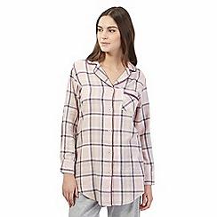 RJR.John Rocha - Pink checked pyjama shirt