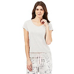 RJR.John Rocha - Grey lace trim pyjama top