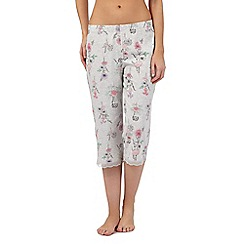 RJR.John Rocha - Grey floral crop pyjama bottoms