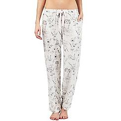 RJR.John Rocha - White floral print pyjama bottoms