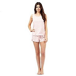 RJR.John Rocha - Pink print top and shorts set