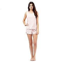 RJR.John Rocha - Pink print top and shorts set