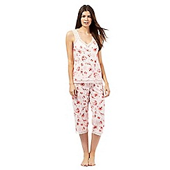 RJR.John Rocha - Pink printed cami and crop pyjama set