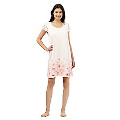 RJR.John Rocha - Pink floral print lace sleep tee