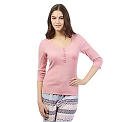 Floozie by Frost French - Pink ribbed pyjama top