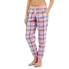 Floozie by Frost French - Pink checked pyjama bottoms