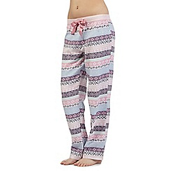 Floozie by Frost French - Pink Fair Isle pyjama bottoms