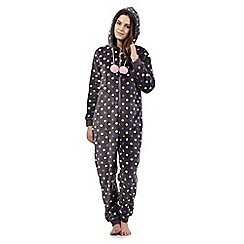 Floozie by Frost French - Grey polka-dot onesie