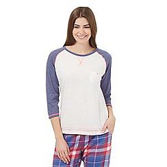 Iris & Edie - White contrast sleeves raglan top