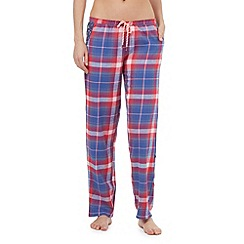 Iris & Edie - Blue checked pyjama bottoms