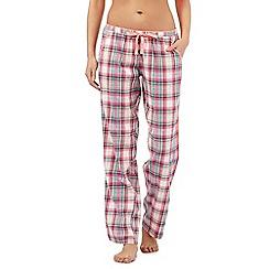 Iris & Edie - Pink check pyjama bottoms