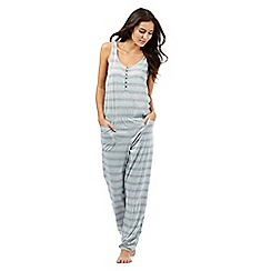 Iris & Edie - Grey striped print jumpsuit