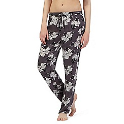 Presence - Dark grey floral pyjama bottoms