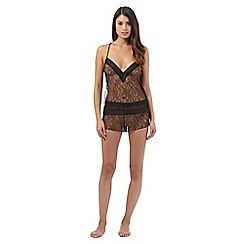 The Collection - Black lace cami and shorts set