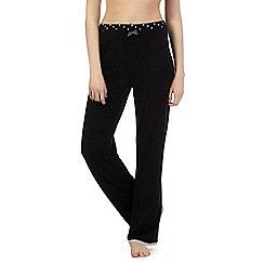 Lounge & Sleep - Black heart pyjama bottoms