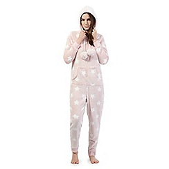 Lounge & Sleep - Pink star print onesie