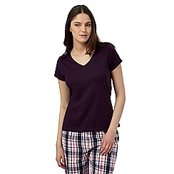 Lounge & Sleep - Purple pyjama top