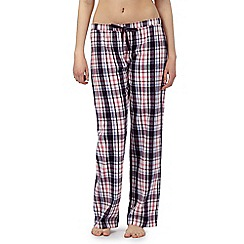 Lounge & Sleep - Purple checked long pant