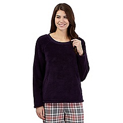 Lounge & Sleep - Purple fleece night jumper