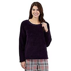 Lounge & Sleep - Purple fleece night jumper