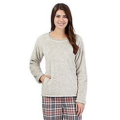 Lounge & Sleep - Grey fleece night jumper