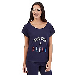 Lounge & Sleep - Navy 'once upon a dream' pyjama top
