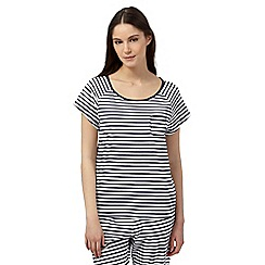 Lounge & Sleep - Navy striped pyjama top