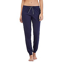 Lounge & Sleep - Navy cuffed long pyjama bottoms