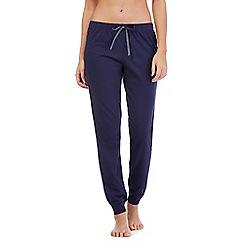 Lounge & Sleep - Navy cuffed long pyjama bottoms