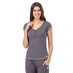 Lounge & Sleep - Grey short sleeved pyjama top