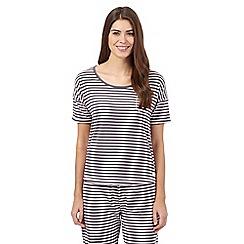 Lounge & Sleep - Pink striped short sleeved pyjama top