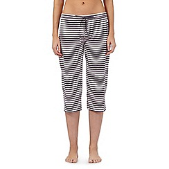 Lounge & Sleep - Pink striped crop pyjama bottoms