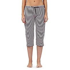 Lounge & Sleep - Pink striped crop pyjama bottoms