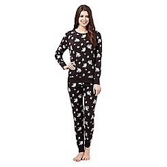Lounge & Sleep - Black floral pyjama set