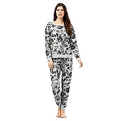Lounge & Sleep - Grey floral pyjama set