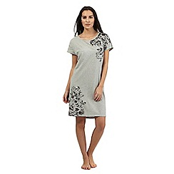 Lounge & Sleep - Grey floral sleep t-shirt