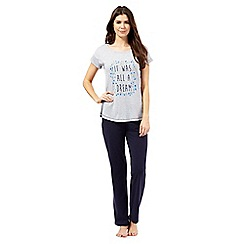 Lounge & Sleep - Grey 'All a dream' slogan pyjama set