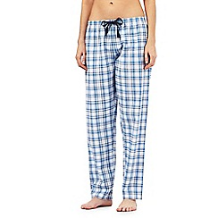 Lounge & Sleep - Blue jacquard checkered pyjama bottoms