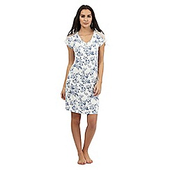 Lounge & Sleep - Blue lace floral print nightshirt