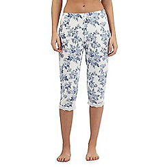 Lounge & Sleep - Blue print cropped pyjama bottoms