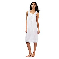 Lounge & Sleep - White sleeveless textured nightdress