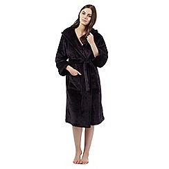 J by Jasper Conran - Navy hooded dressing gown