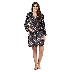 Floozie by Frost French - Grey spotted short dressing gown